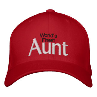 World's Finest Aunt Embroidered Hats