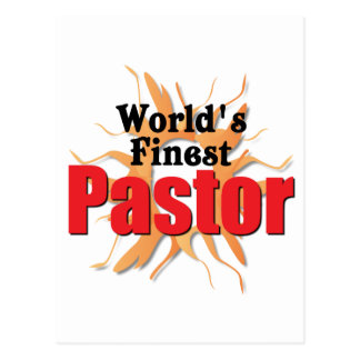 World's Finest Pastor Postcard