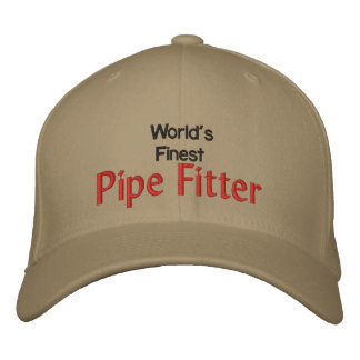 Worlds Finest Pipe Fitter Embroidered Baseball Cap