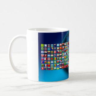 World's flags basic white mug