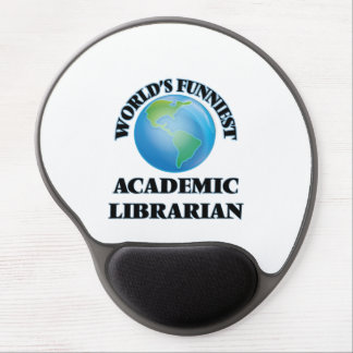 World's Funniest Academic Librarian Gel Mouse Mats