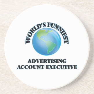 World's Funniest Advertising Account Executive Beverage Coasters