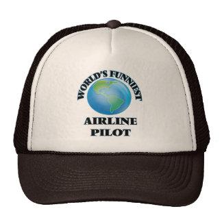 World's Funniest Airline Pilot Trucker Hat