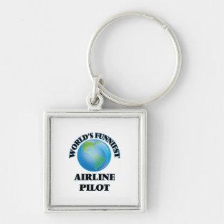 World's Funniest Airline Pilot Keychain