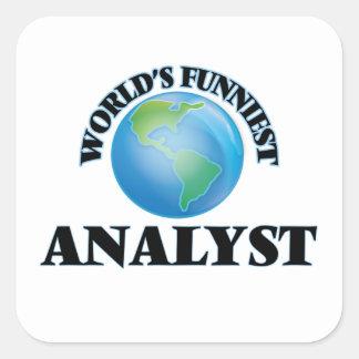 World's Funniest Analyst Square Sticker