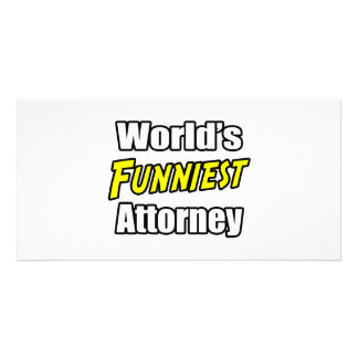 World's Funniest Attorney Customized Photo Card