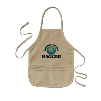 World's Funniest Bagger Kids' Apron