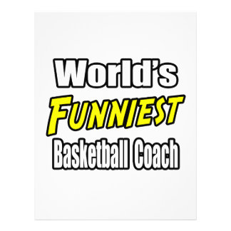 World's Funniest Basketball Coach Flyers