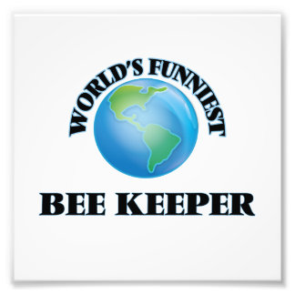 World's Funniest Bee Keeper Photo Print