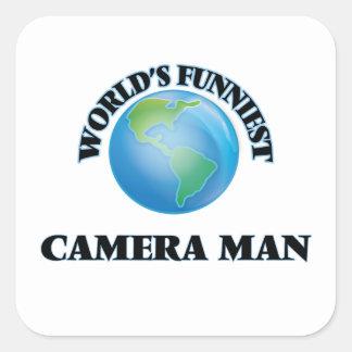 World's Funniest Camera Man Square Sticker