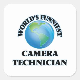World's Funniest Camera Technician Square Sticker