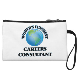 World's Funniest Careers Consultant Wristlet Clutch