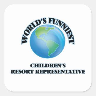 World's Funniest Children's Resort Representative Square Sticker