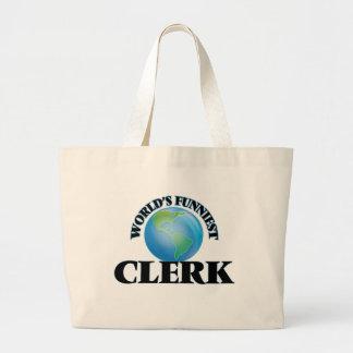 World's Funniest Clerk Tote Bags