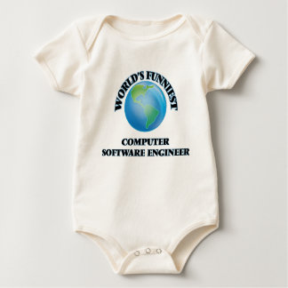 World's Funniest Computer Software Engineer Baby Bodysuit