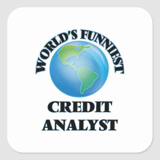 World's Funniest Credit Analyst Square Stickers