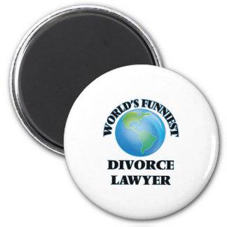 World's Funniest Divorce Lawyer 6 Cm Round Magnet