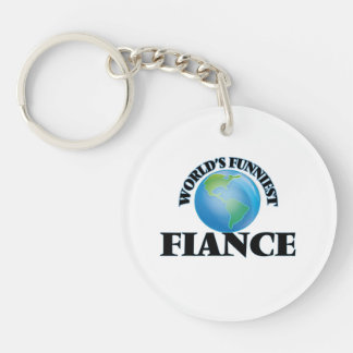 World's Funniest Fiance Single-Sided Round Acrylic Key Ring