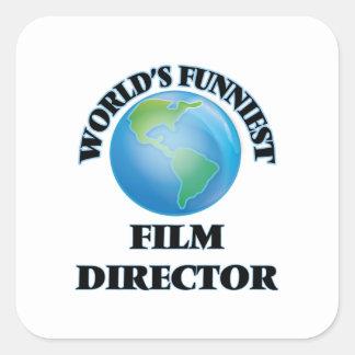 World's Funniest Film Director Square Sticker