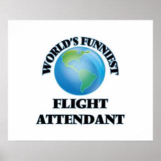 World's Funniest Flight Attendant Poster