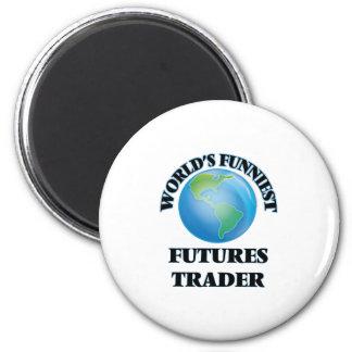 World's Funniest Futures Trader 6 Cm Round Magnet