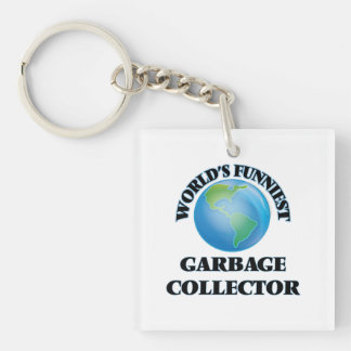 World's Funniest Garbage Collector Square Acrylic Keychains