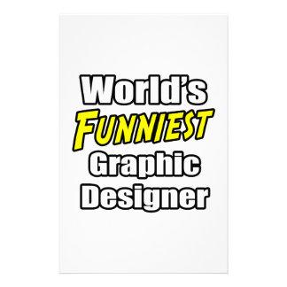 World's Funniest Graphic Designer Custom Stationery