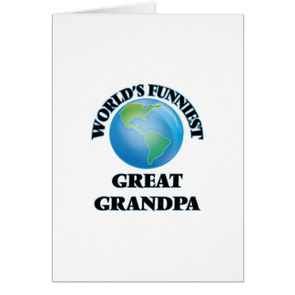 World's Funniest Great Grandpa Greeting Card