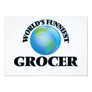 "World's Funniest Grocer 5"" X 7"" Invitation Card"