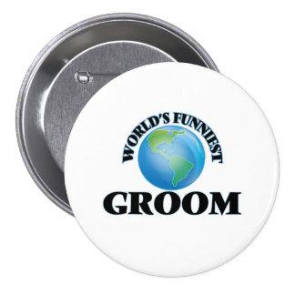 World's Funniest Groom 7.5 Cm Round Badge