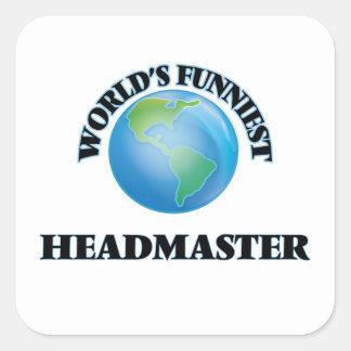 World's Funniest Headmaster Square Stickers