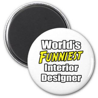 World's Funniest Interior Designer Refrigerator Magnets