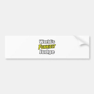 World's Funniest Judge Bumper Stickers