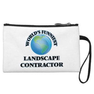 World's Funniest Landscape Contractor Wristlet Clutch