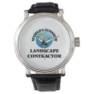 World's Funniest Landscape Contractor Wristwatch