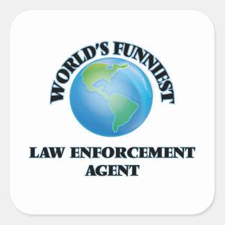 World's Funniest Law Enforcement Agent Square Sticker