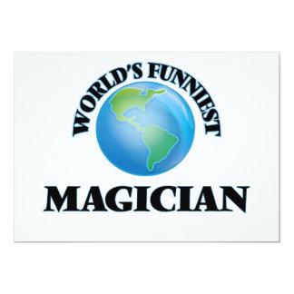 "World's Funniest Magician 5"" X 7"" Invitation Card"