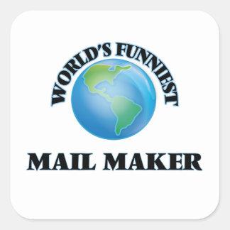 World's Funniest Mail Maker Square Sticker