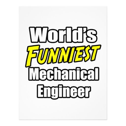 World's Funniest Mechanical Engineer Personalized Flyer