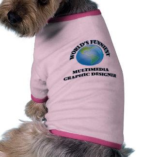 World's Funniest Multimedia Graphic Designer Dog Tee
