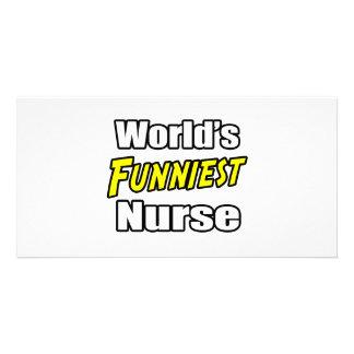 World's Funniest Nurse Photo Card Template