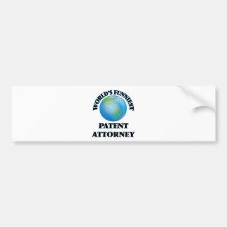 World's Funniest Patent Attorney Bumper Sticker