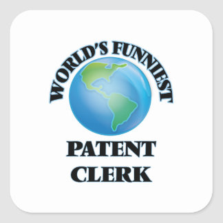 World's Funniest Patent Clerk Square Sticker