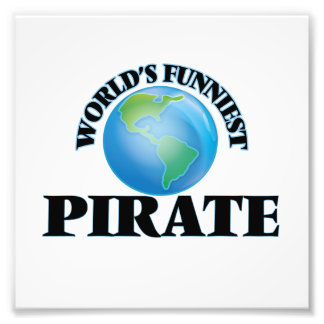 World's Funniest Pirate Photographic Print