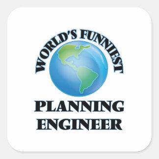 World's Funniest Planning Engineer Square Sticker