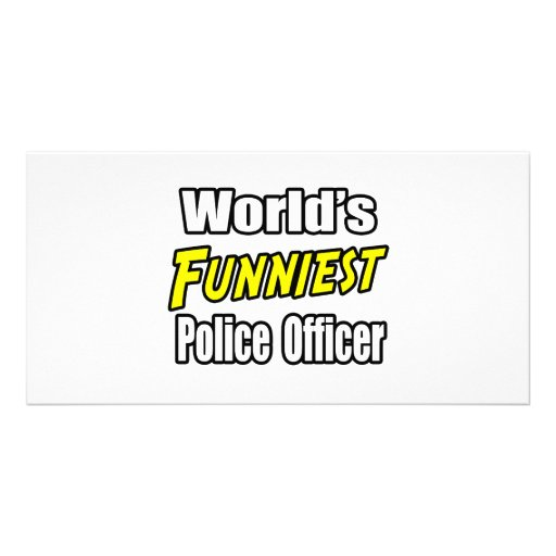 World's Funniest Police Officer Picture Card