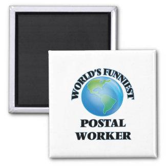 World's Funniest Postal Worker Refrigerator Magnets