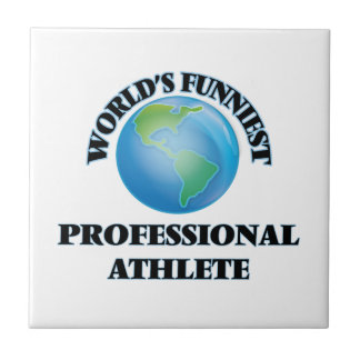 World's Funniest Professional Athlete Small Square Tile