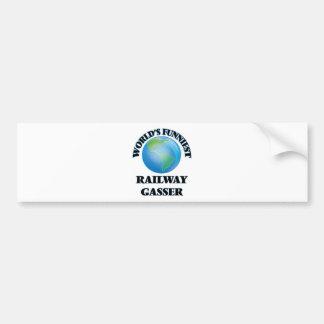 World's Funniest Railway Gasser Bumper Stickers