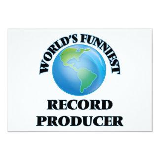 "World's Funniest Record Producer 5"" X 7"" Invitation Card"